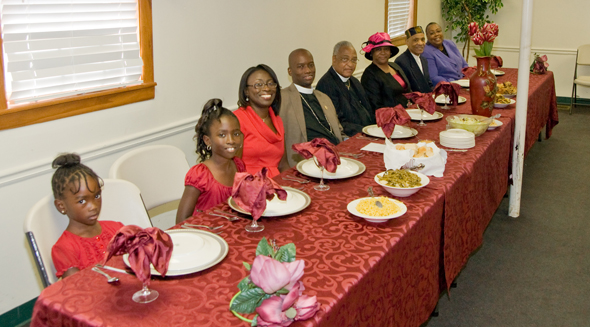 The head table at the Appreciation Program following morning worship ...